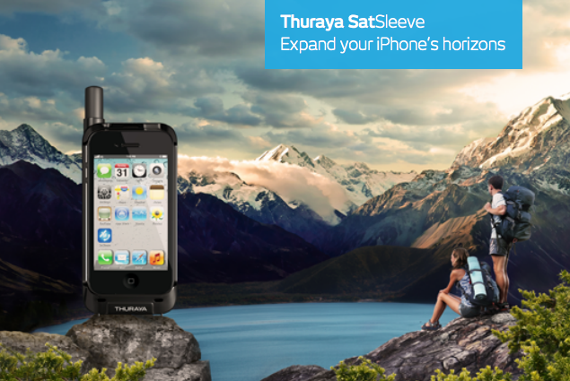 Thuraya satsleeve iphone samsung satelliet telefoon
